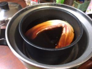 電鍋に醤油